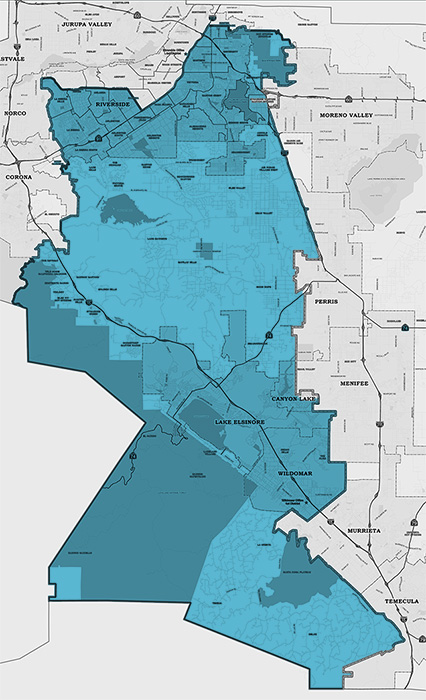 map of Board of Supervisors District #1